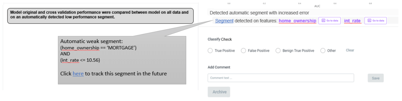 Detecting weak slices automatically automatically with the Deepchecks system